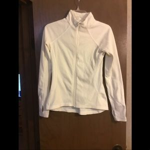 Jockey white running jacket